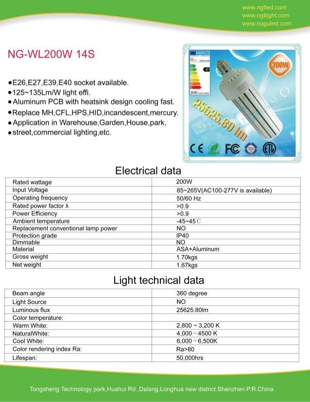 200W LED Corn Light Milky cover