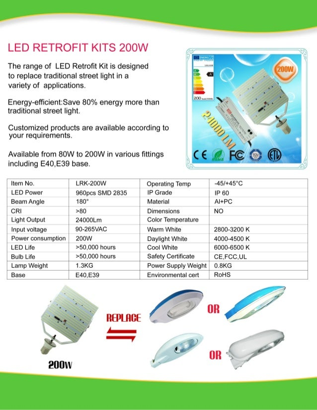 200w led retrofit Kits New