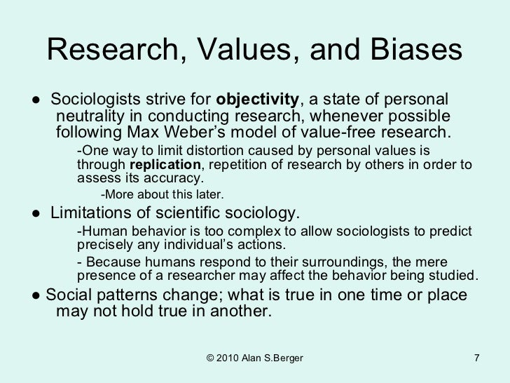 max weber value free research