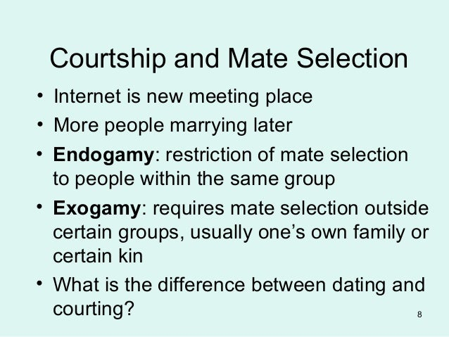 distinguish between dating and courtship