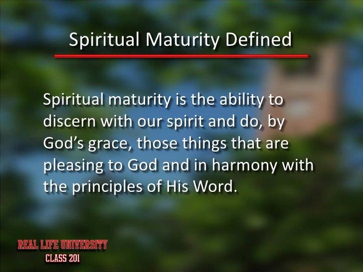 Spiritual Maturity Of Characteristics