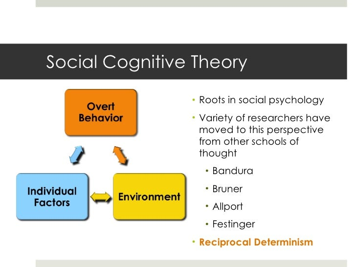 social cognitive theory roots in social psychology variety of researchers have moved to this perspective from other schools of