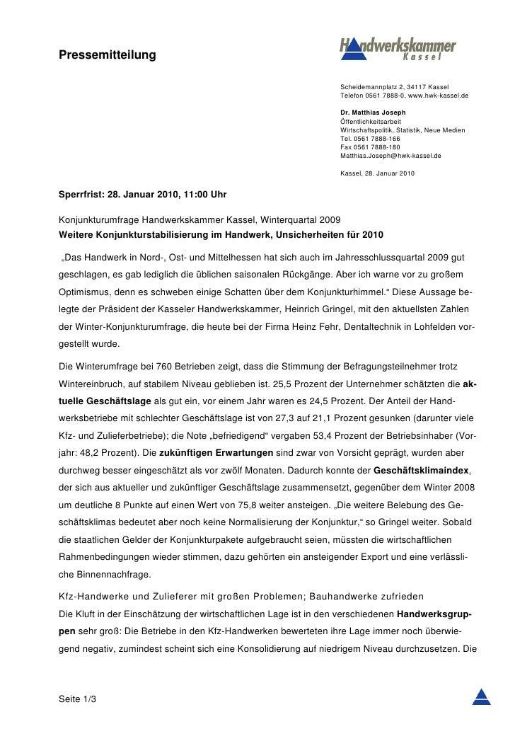 Pressemitteilung                                                                  Scheidemannplatz 2, 34117 Kassel        ...