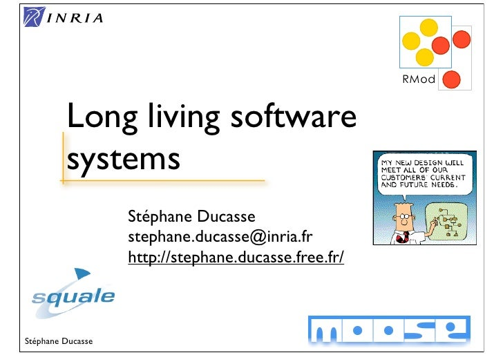 Long living software          systems                    Stéphane Ducasse                    stephane.ducasse@inria.fr    ...
