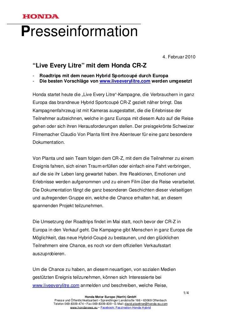 "Presseinformation                                                                                        4. Februar 2010 ""..."