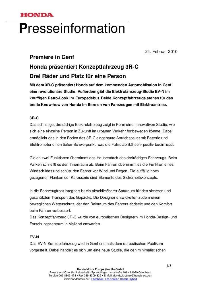 Presseinformation                                                                                       24. Februar 2010 P...
