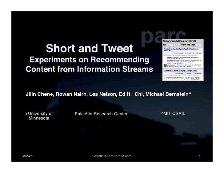 +University of   Palo Alto Research Center!       ^MIT CSAIL!   Minnesota!     8/23/10                   CHI2010 ZeroZero8...