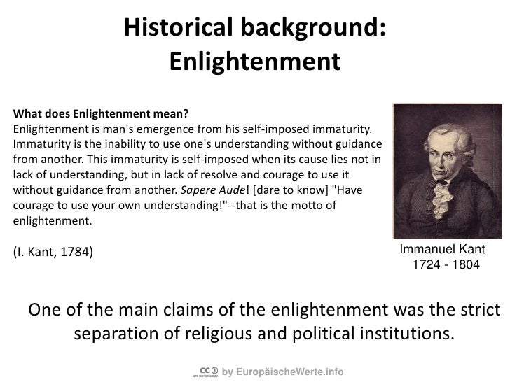 2nd Step: Rationality<br />Besides faith rationality becomes a basis for judgement now.<br />From 1640 A. D.<br />