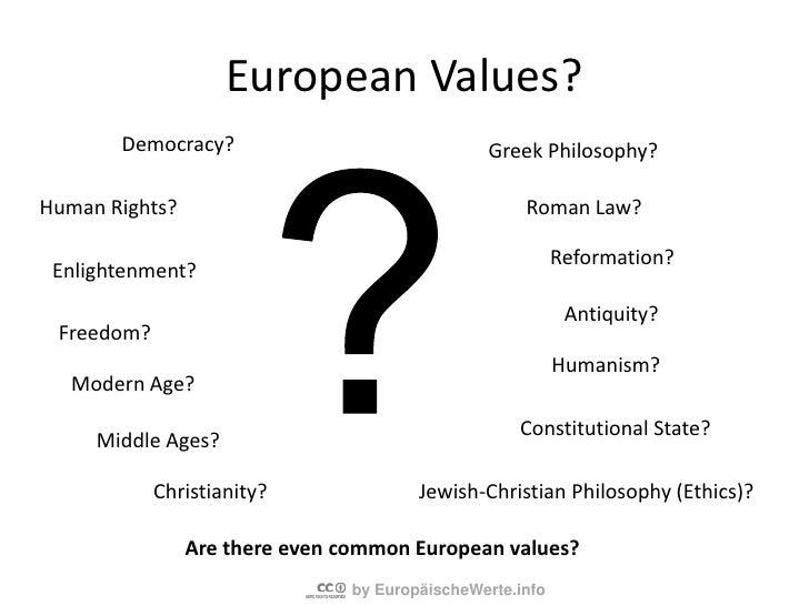 The basisofourfree European societiesareparticularvalues,whicharetheexpressionof a specialworldview.<br />Ifwewanttopreser...