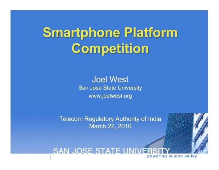 Smartphone Platform Competition