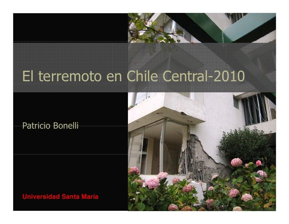 El terremoto en Chile Central-2010   Patricio Bonelli     Universidad Santa María