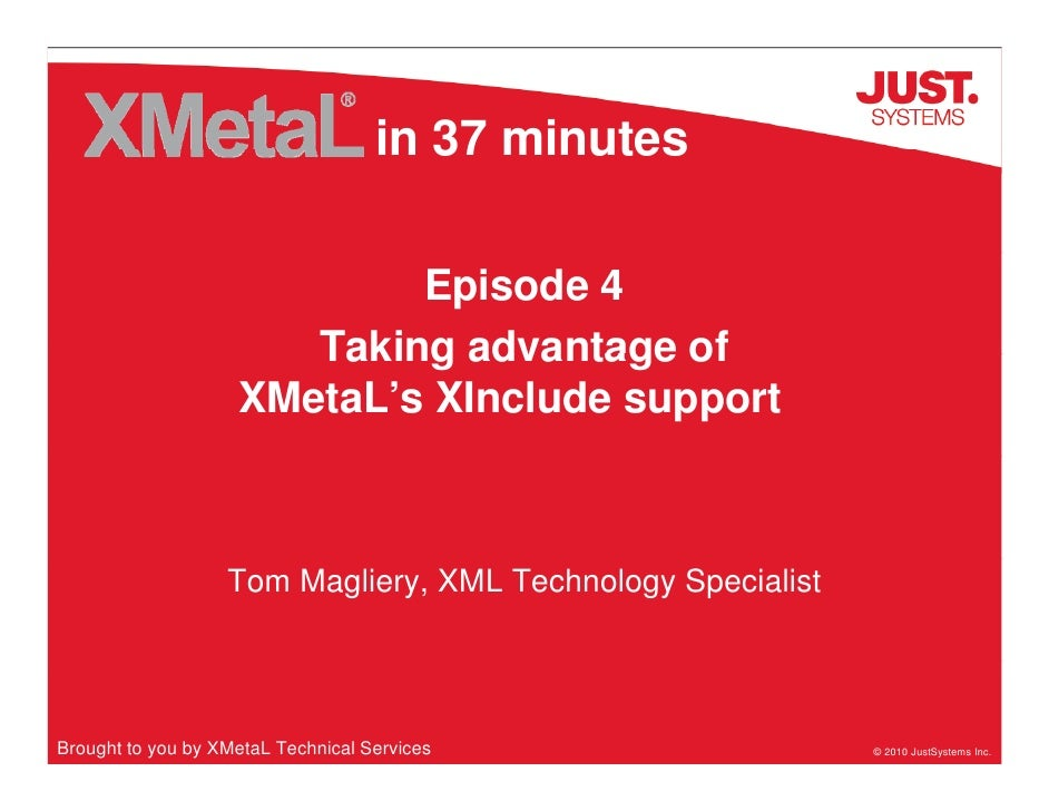 in 37 minutes                              Episode 4                        Taking advantage of                     XMetaL...