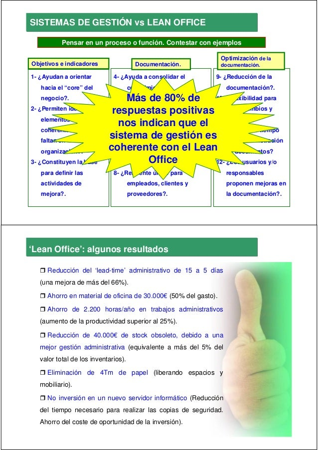 2010 04 16 lean office lean service for Office service material de oficina