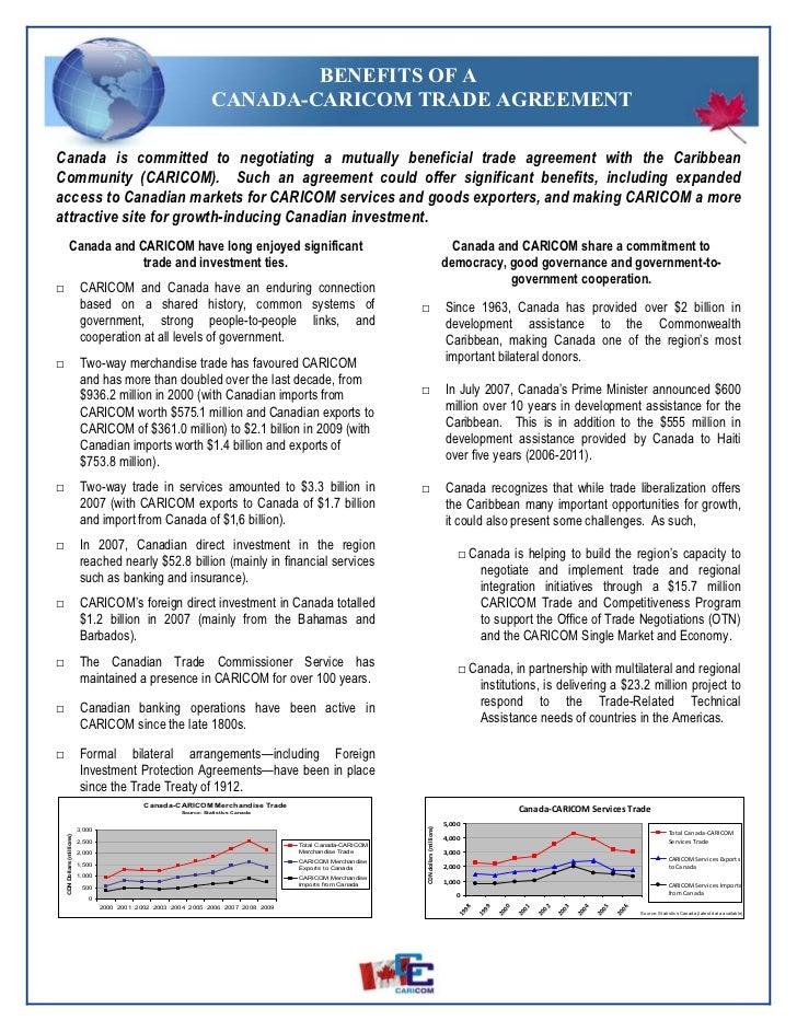 2010 04 24 Caricom Canada Blurb On The Benefits Of A Tada