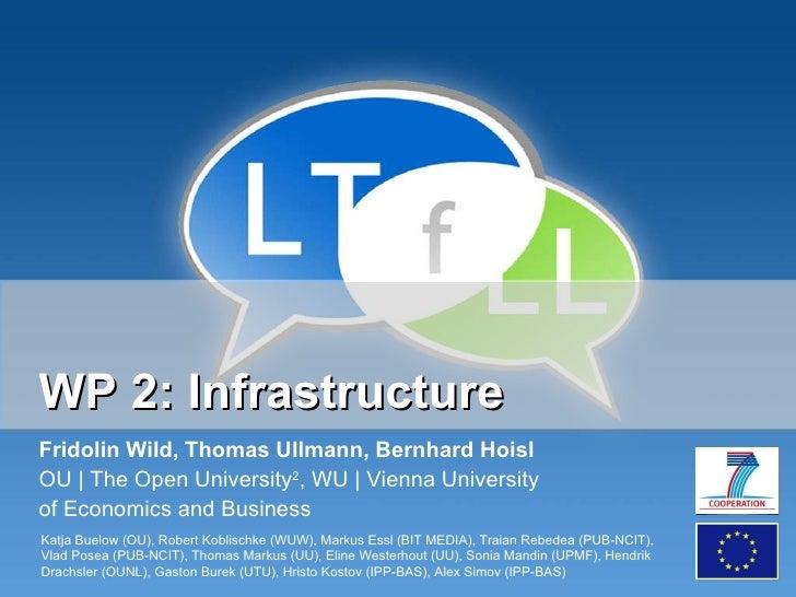 WP 2: Infrastructure Fridolin Wild, Thomas Ullmann, Bernhard Hoisl OU | The Open University 2 , WU | Vienna University  of...