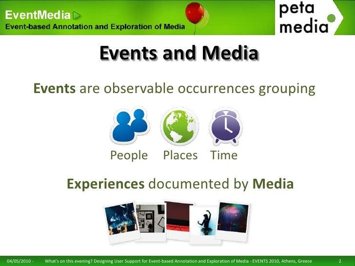Designing User Support for Event-based Annotation and Exploration of Media Slide 2