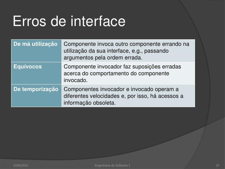 Linhas de orientação para testes de interface<br />Invocar rotinas com valores extremos dos argumentos<br />Invocar rotina...