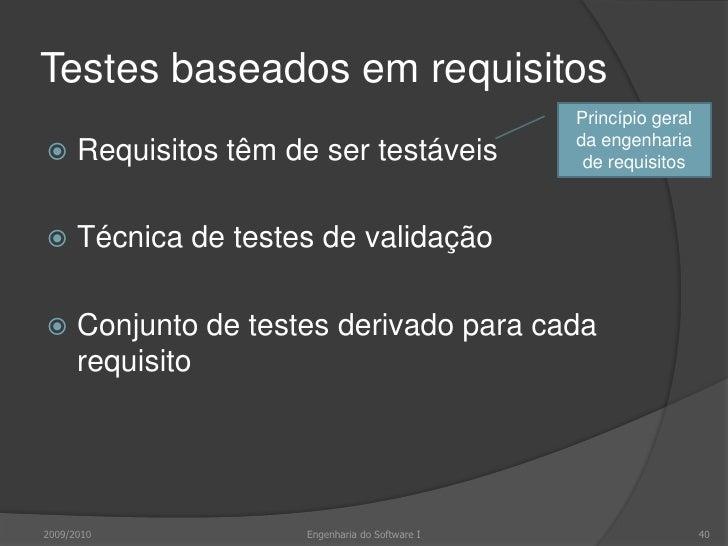 Requisitos do LIBSYS<br />2009/2010<br />Engenharia do Software I<br />40<br />