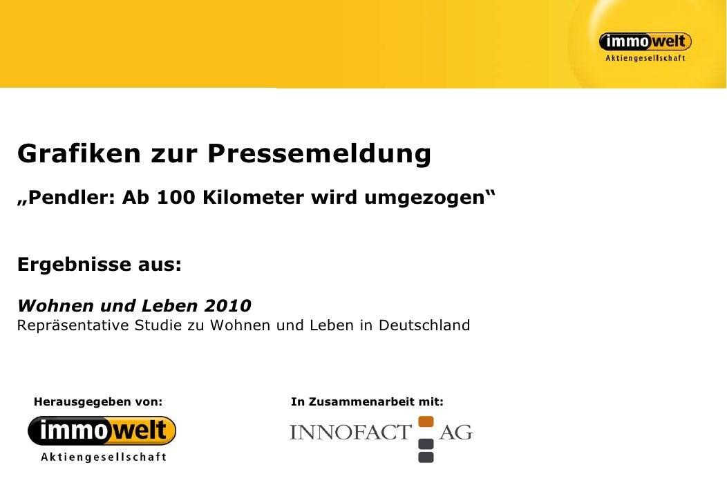 """Grafiken zur Pressemeldung""""Pendler: Ab 100 Kilometer wird umgezogen""""Ergebnisse aus:Wohnen und Leben 2010Repräsentative Stu..."""