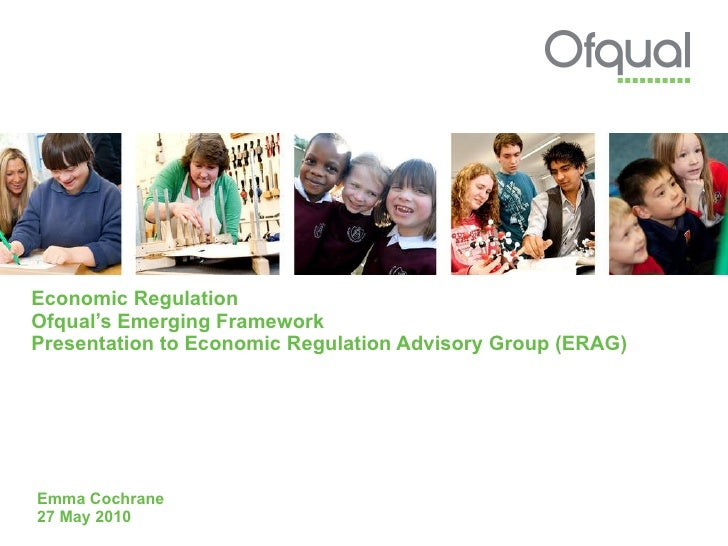 Presentation to Economic Regulation Advisory Group (ERAG), May 2010