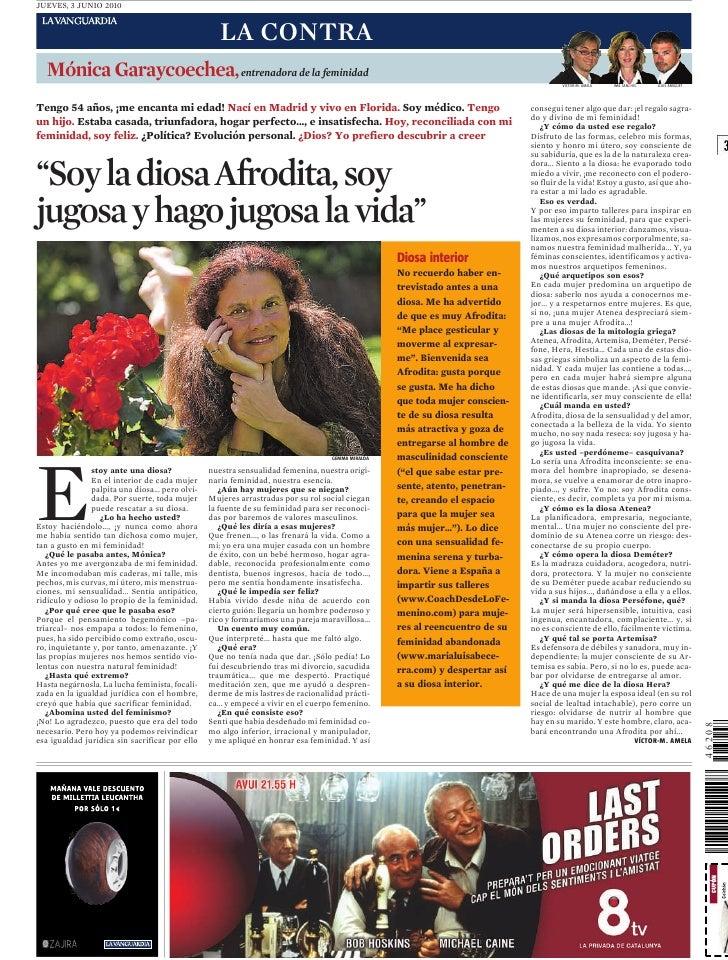 JUEVES, 3 JUNIO 2010                                                       LA CONTRA    Mónica Garaycoechea, entrenadora d...
