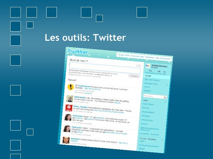 Les outils: Twitter<br />