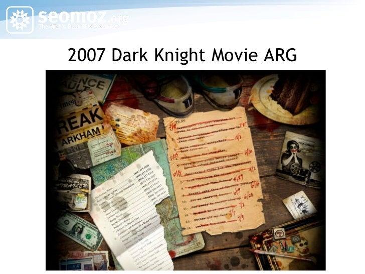 2007 Dark Knight Movie ARG