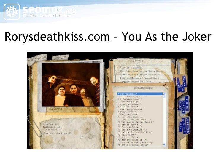 Rorysdeathkiss.com – You As the Joker