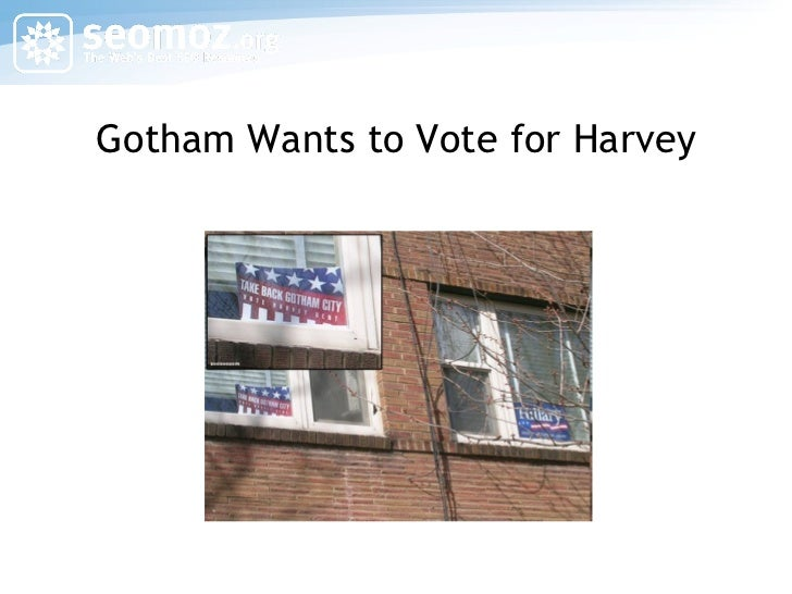 Gotham Wants to Vote for Harvey