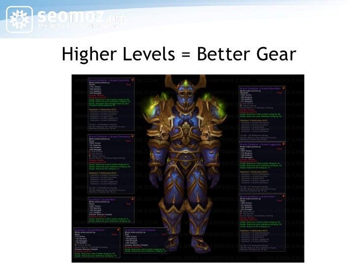 Higher Levels = Better Gear