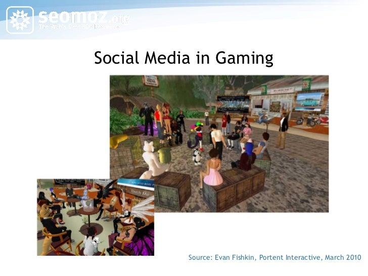 Social Media in Gaming Source: Evan Fishkin, Portent Interactive, March 2010