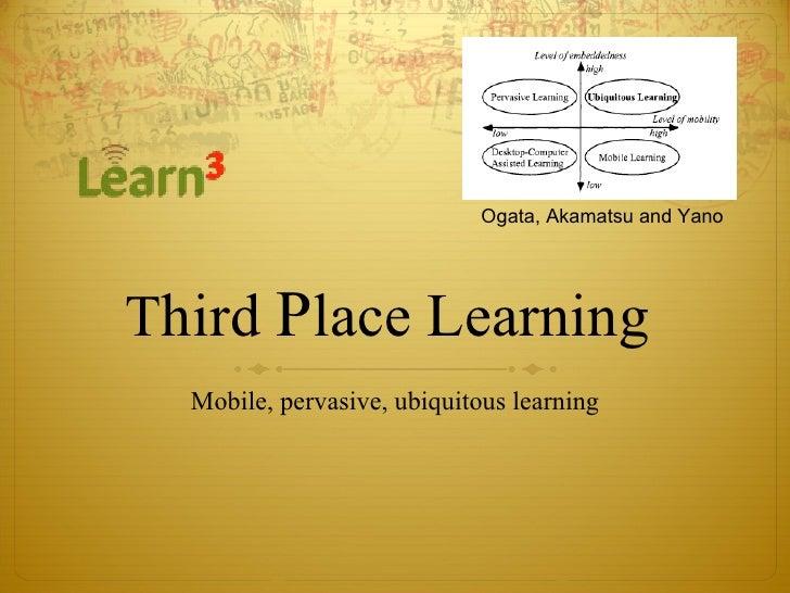 T hird  P lace Learning  Mobile, pervasive, ubiquitous learning Ogata, Akamatsu and Yano