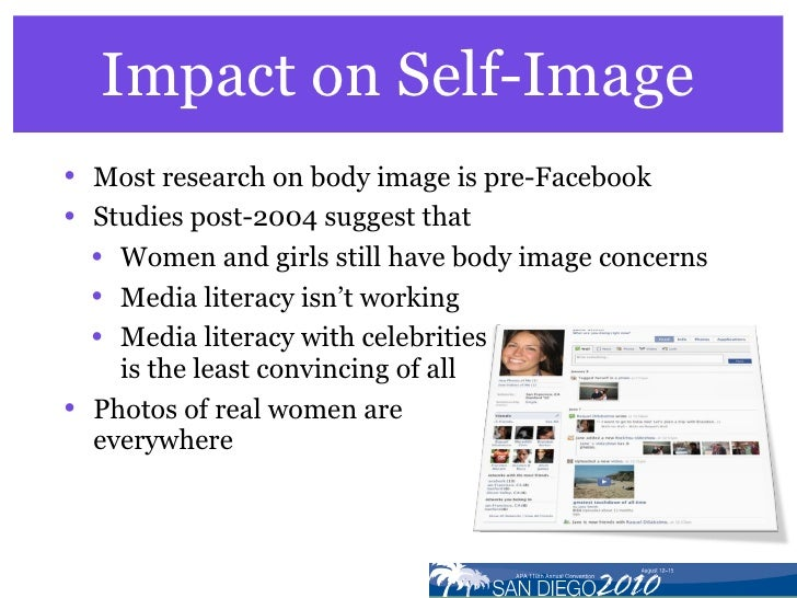 the impact of media on self It is also a great way for world news to travel unfortunately, this can come along  with a negative impact on self-esteem social media can often.