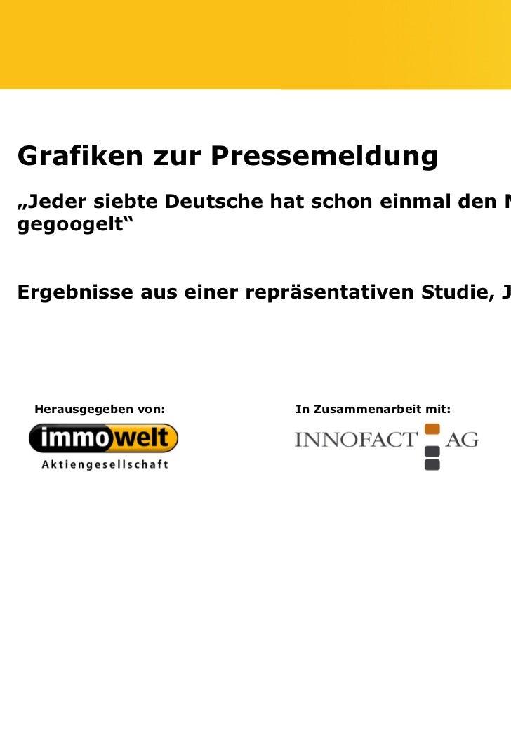 """Grafiken zur Pressemeldung""""Jeder siebte Deutsche hat schon einmal den Nachbarngegoogelt""""Ergebnisse aus einer repräsentativ..."""
