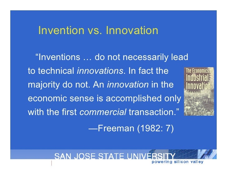 Distributed perspectives on innovation uc berkeley aug 2010 for Innovative product ideas not yet invented