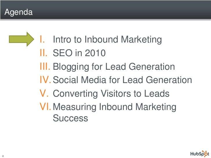 Rethinking Marketing: Inbound Marketing to Grow Your Business Slide 2