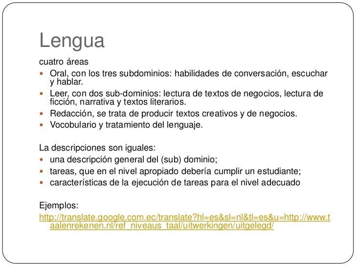 Lengua <br />cuatro áreas <br />Oral, con los tres subdominios: habilidades de conversación, escuchar y hablar.<br />Leer,...