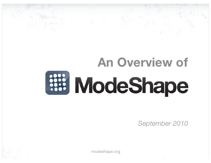 An Overview of ModeShape