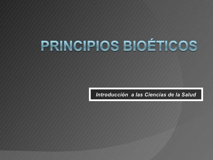 Introducción  a las Ciencias de la Salud