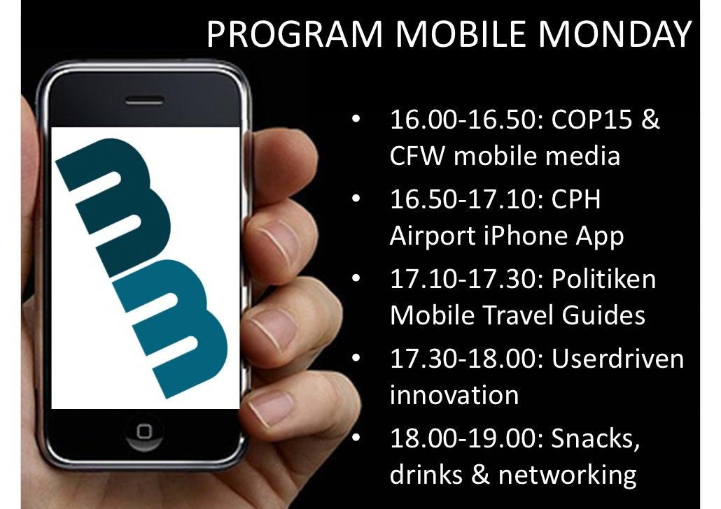 PROGRAMMOBILEMONDAY                          • 16.00‐16.50:COP15& BACKGROUND THEPROJECT                CFWmobileme...