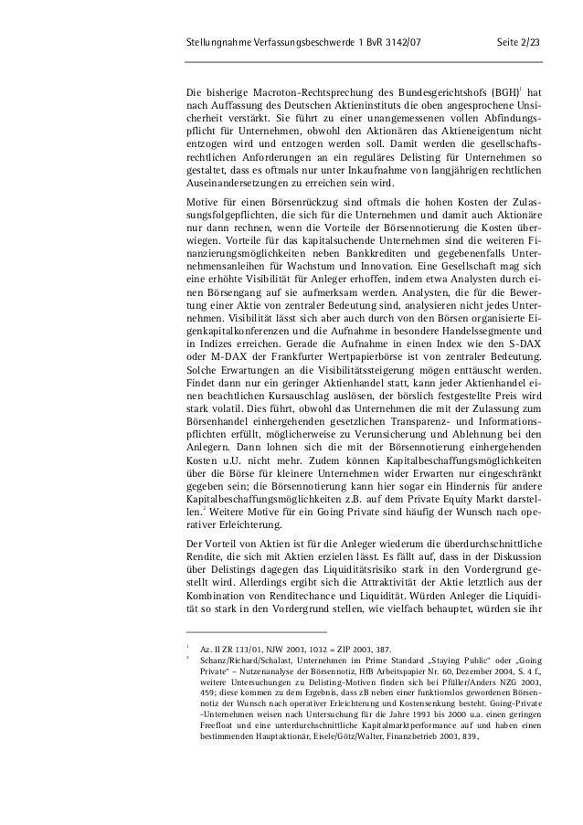 Stellungnahme des DAI zum Delsiting und zum Spruchverfahren Slide 2