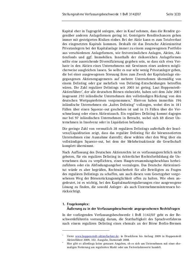 Stellungnahme des DAI zum Delsiting und zum Spruchverfahren Slide 3