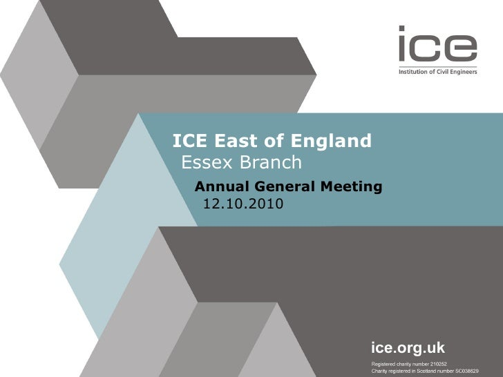 ICE East of England Essex Branch Annual General Meeting 12.10.2010