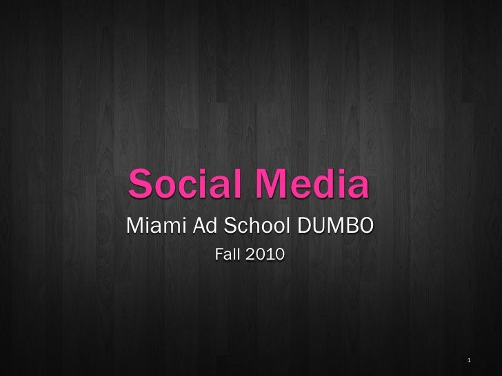 MAS Social Media 2 - Channel Overview