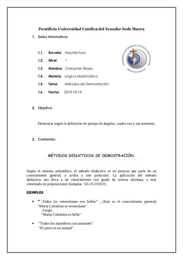 Pontificia Universidad Católica del Ecuador Sede Ibarra 1. Datos Informativos 1.1. Escuela: Arquitectura 1.2. Nivel: 1 1.3...