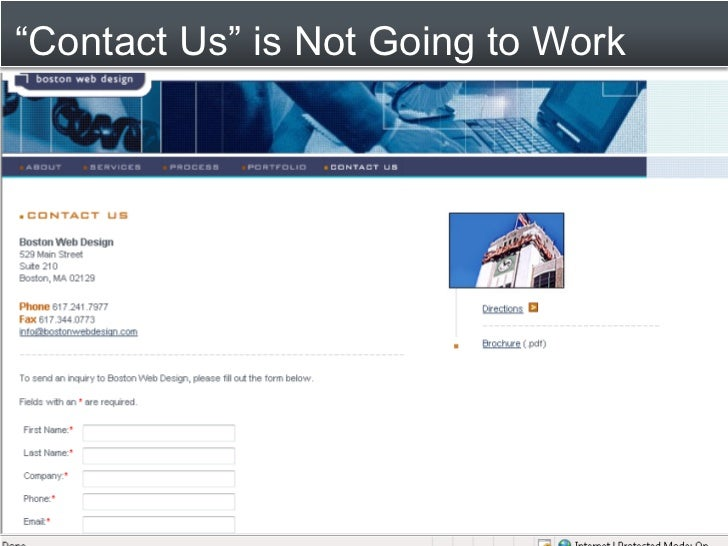 """Contact Us"" is Not Going to Work"