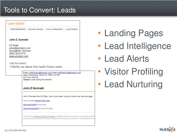 Tools to Convert: Leads                             •   Landing Pages                           •   Lead Intelligence     ...