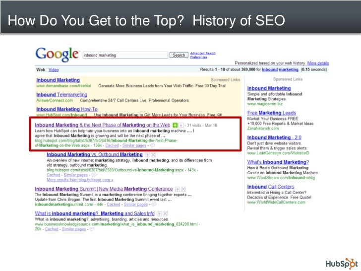 How Do You Get to the Top? History of SEO