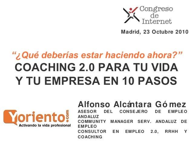 Alfonso Alcántara Gó mez ASESOR DEL CONSEJERO DE EMPLEO ANDALUZ COMMUNITY MANAGER SERV. ANDALUZ DE EMPLEO CONSULTOR EN EMP...