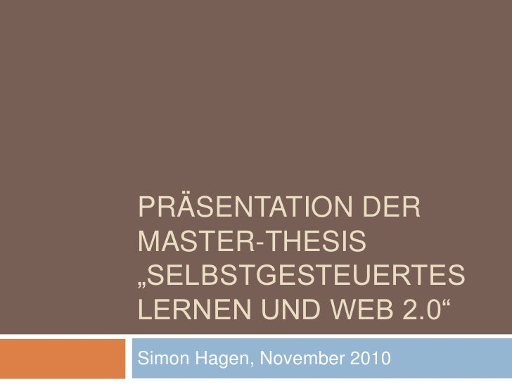 master thesis web 2.0 The term web 20 was first used in january 1999 by darcy dinucci, a consultant on electronic information design (information architecture).